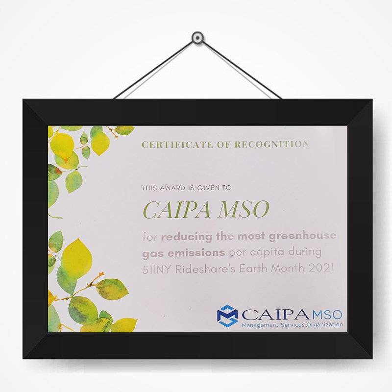 CAIPA - Award Earth Month 2021